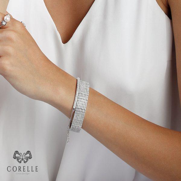 Bratara argint 925, Corelle, cod TRSB010