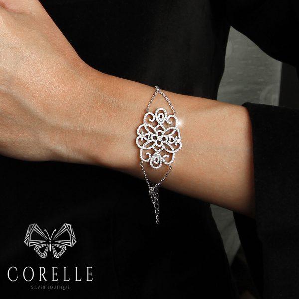 Bratara argint 925, Corelle, cod TRSB012