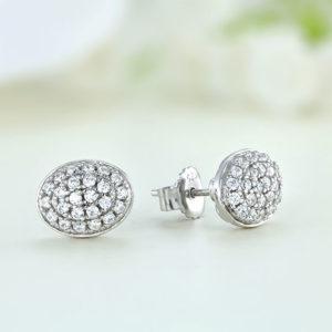 Cercei argint mici cu pietre - ICE0024