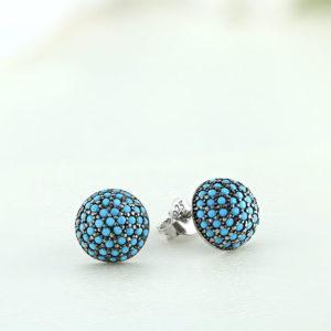 Cercei argint cu pietre albastre - ICE0057
