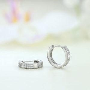 Cercei argint rotunzi cu pietre - ICE0062