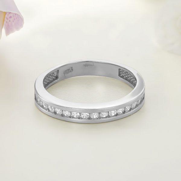 Inel argint Eternity cu pietre - ICR0007
