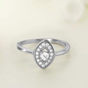 Inel argint cu pietre Oval - ICR0010