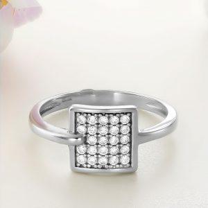 Inel argint cu pietre Square - ICR0011