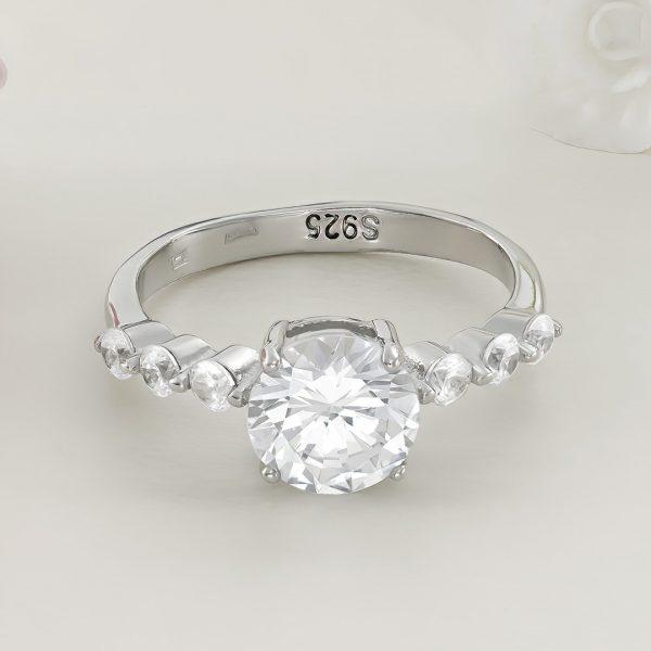 Inel logodna argint cu pietre - ICR0028