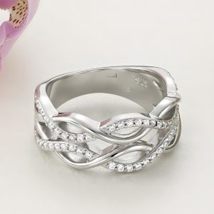 Inel argint Lat Eternity cu pietre - ICR0056