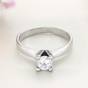 Inel logodna argint cu piatra zirconiu Solitar - ICR0062