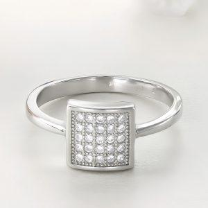 Inel argint cu pietre Square - ICR0074