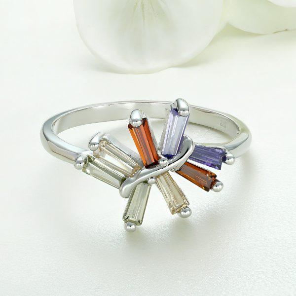Inel argint cu pietre colorate - ICR0085
