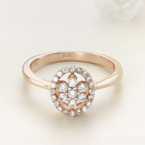 Inel argint roz cu pietre - ICR0088