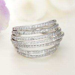 Inel argint Lat cu pietre - ICR0114