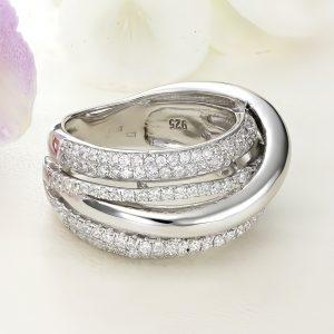 Inel argint Lat cu pietre - ICR0115