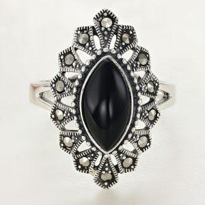 Inel argint Vintage cu Onix Negru - ICR0119