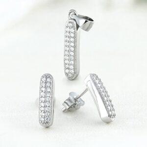 Set bijuterii argint cu pietre Ami - ICS0011