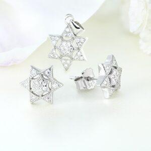 Set bijuterii argint cu pietre Star - ICS0024