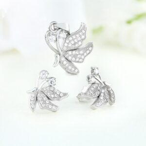 Set bijuterii argint cu pietre Buterfly - ICS0025
