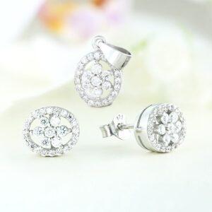 Set bijuterii argint cu pietre Eiwa - ICS0032