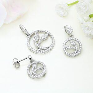 Set bijuterii argint cu pietre Katty - ICS0041