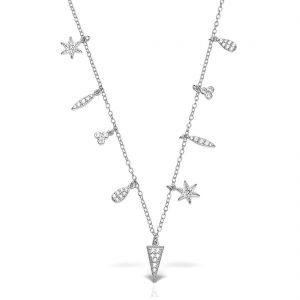 Colier argint cu pietre 48 cm Summer - MCN0016