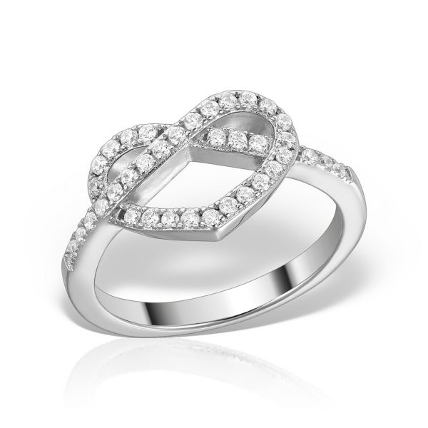 Inel argint cu pietre Heart - MCR0016