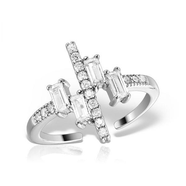 Inel argint reglabil cu pietre - MCR0017