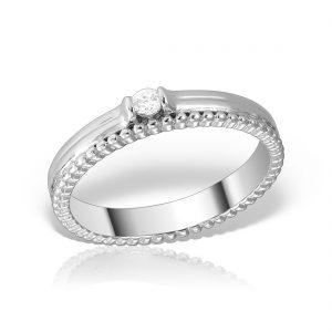 Inel logodna argint cu pietre - MCR0023