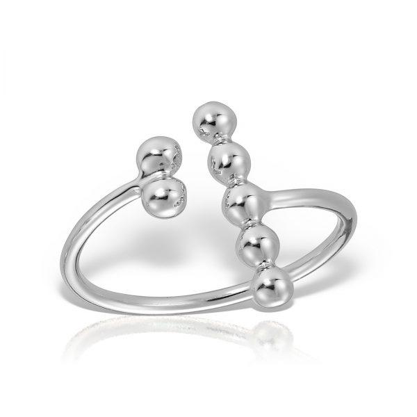 Inel argint reglabil fara pietre Bile - MCR0038
