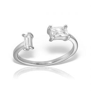 Inel argint reglabil cu pietre - MCR0069