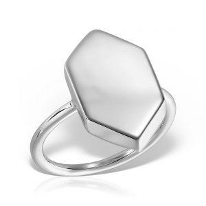 Inel argint Hexagon - MCR0082