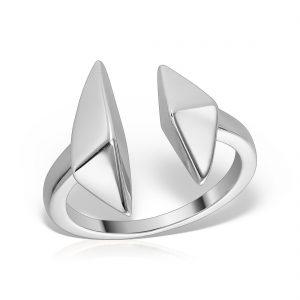 Inel argint reglabil Geometric - MCR0083