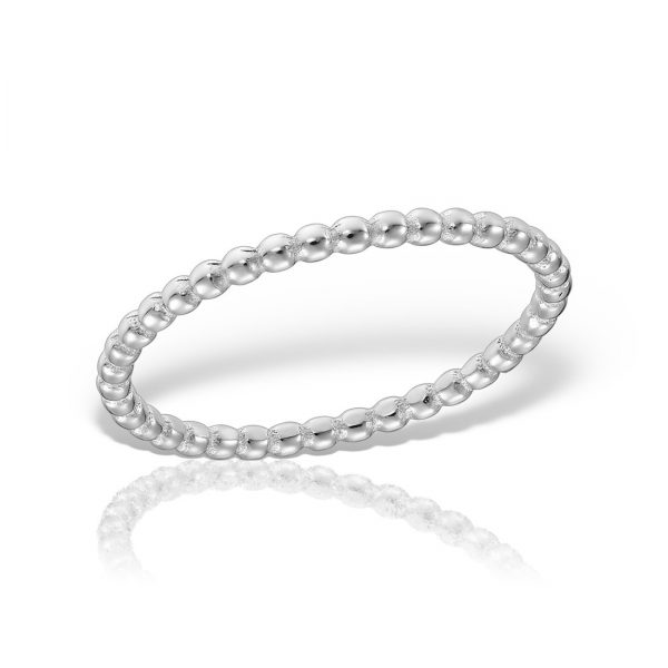 Inel argint subtire cu bile - MCR0095