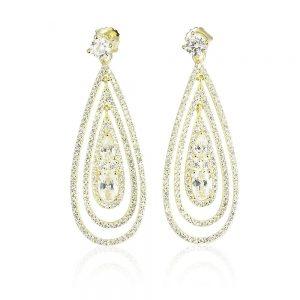 Cercei argint Surub Drop Earrings Zirconii TRSE063, Bijuterii - Corelle