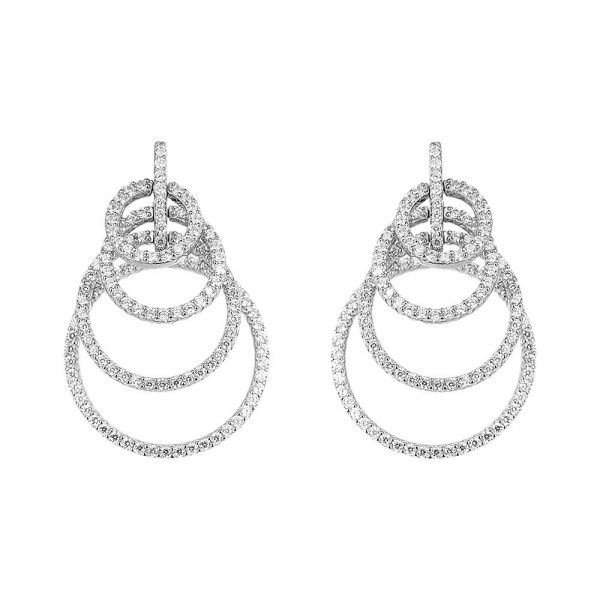 Cercei argint Surub Drop Earrings Zirconii TRSE066, Bijuterii - Corelle