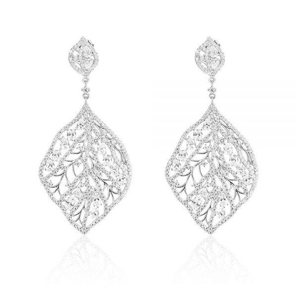Cercei argint Surub Drop Earrings Zirconii TRSE067, Bijuterii - Corelle