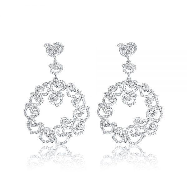 Cercei argint Surub Drop Earrings Zirconii TRSE083, Bijuterii - Corelle