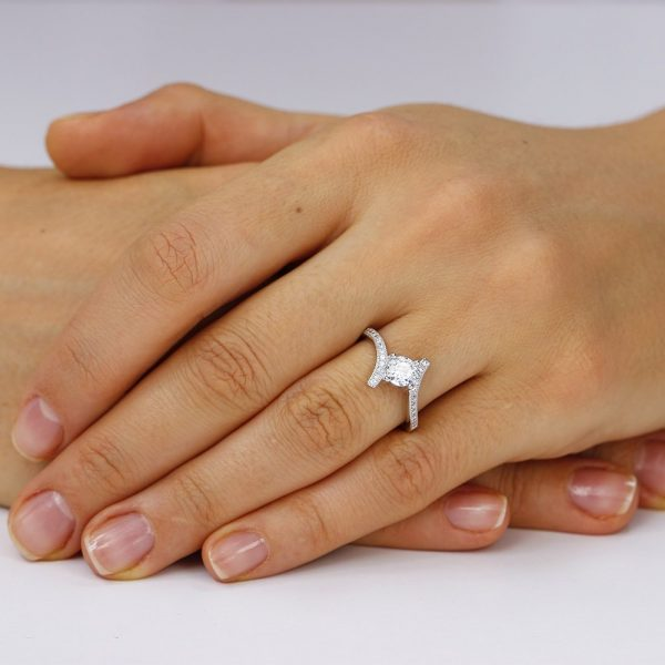Inel de logodna argint Solitar NoTouch cu cristale TRSR121, Corelle