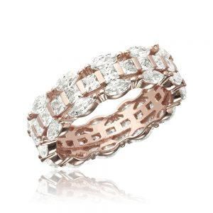 Inel argint Marquise&Princess Fancy Eternity cu cristale TRSR149, Corelle