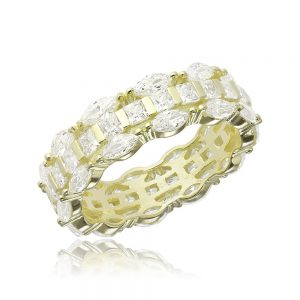Inel argint Marquise&Princess Fancy Eternity cu cristale TRSR150, Corelle