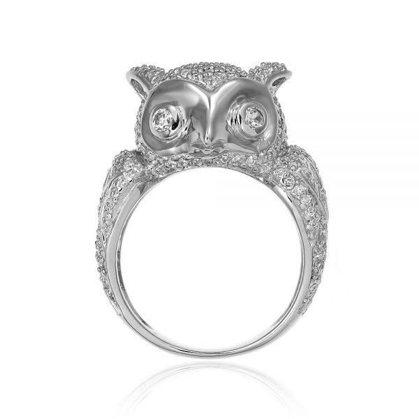 Inel argint Fancy Wild cu cristale mici din zirconii TRSR196, Bijuterii - Corelle