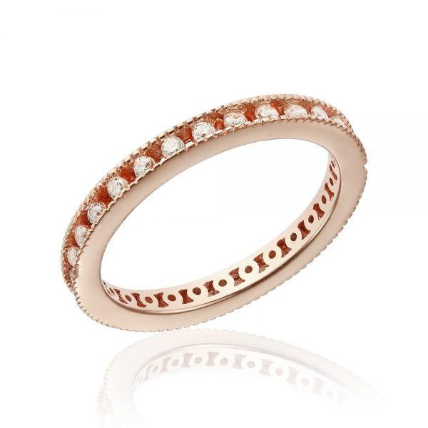 Inel argint Rose Eternity cu cristale TRSR242, Bijuterii - Corelle