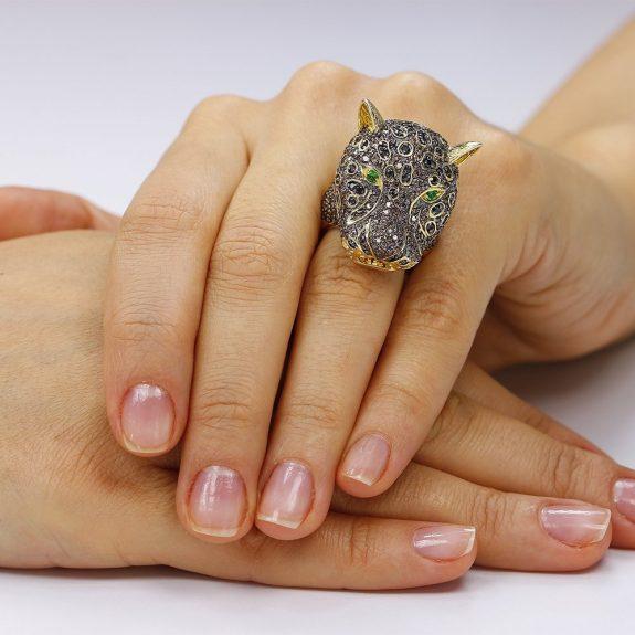 Inel argint Fancy Wild cu cristale mici din zirconii TRSR272, Bijuterii - Corelle